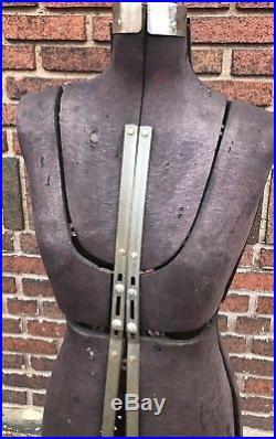 Antique Mannequin Dress Making Body Form Vintage Cast Iron Retro Shabby Chic
