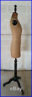 Antique Stockman Paris Mannequin Tailor Dress Form Dummy Couture Fashion Sewing