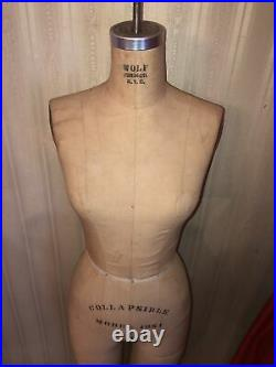 Antique Vintage Collapsible Wolf Form Girl Dress Form Model 1981 SIZE 8