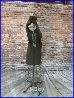 Antique/Vintage Mannequin Dress Form w Cast Iron & Cage Bottom Steampunk Display