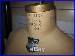 Antique Wolf Model Form 16 MS Model 1967 cast iron stand adjustable dress form