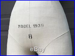 B. MOSS 1939 DRESS FORM MANNEQUIN display store front ad Superior model NY