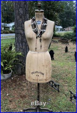 Bauman Form Co Mannequin Dress Form Woman model 1971 #14 Vintage Antique w Cage