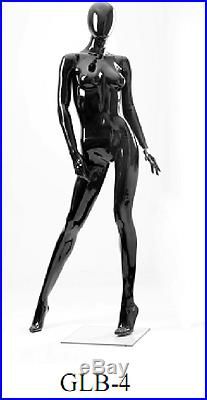 Black Glossy Female Mannequin GLB4 New