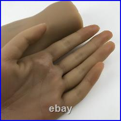 Brown Lifesize Silicone Hand Mannequin Female Model Nail Practice Jewel Display
