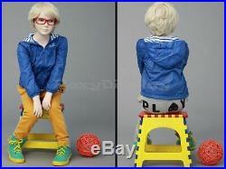 Child Fiberglass Cute Realistic Mannequin Dress Form Display #MZ-ITA4