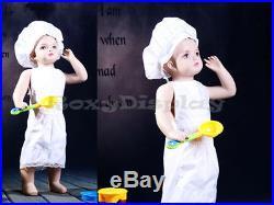 Child Fiberglass Realistic Mannequin Dress Form Display #MZ-ANN4
