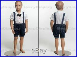 Child Fiberglass with Molded Hair Mannequin Dress Form Display #MZ-KD2