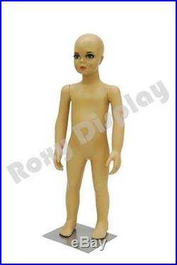 Child Plastic Realistic Mannequin Dress Form Display #PS-KD-1+FREE Wig