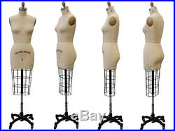 Collapsible Shoulder Female Professional Pro Working Dress Form Half Size 6 wHip