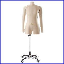 Dress Form Mannequin Eva Comfort Female Pinnable Sewing Tailor Beige XXS XXX