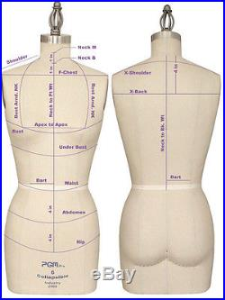 Dress Form Size 12 with Collapsible Shoulder & Hip Professional Female Dress Form