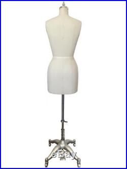 Dress Form Size 8 with Flat Hip, Professional Female Dress Form