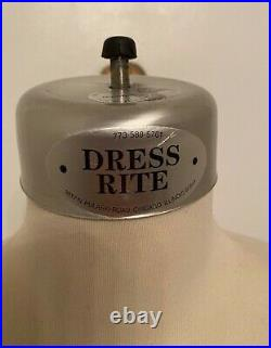 Dress Rite Chicago Industry Professional Tailor Female Half Body Form size 8