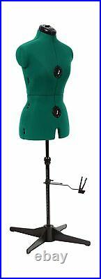 Dritz 20420 Dressform Tripod Stand Adjustable Shoulder Height Small Green Small
