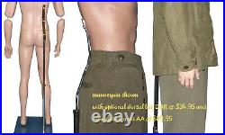 EXTRA SMALL 5'6 Tall Military Mannequin, Lifelike, Museum Quality, MDP08-PT