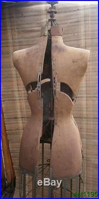Early 1900's L & M Adjustable Dress Form Co Makers of Acme Dress Form