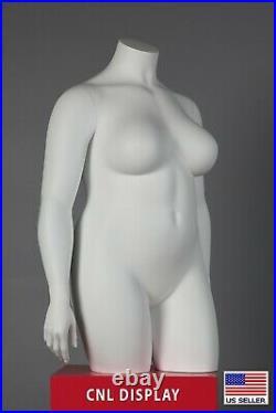 Extra Large PLUS SIZE fiberglass female headless 3/4 length mannequin