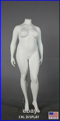 Extra Large PLUS SIZE fiberglass female headless mannequin