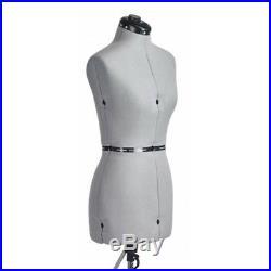 FAMILY DRESSFORM FM-M Family Medium Adjustable Mannequin Dress Form Grey