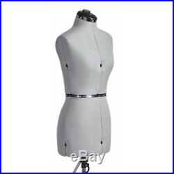 FAMILY DRESSFORM FM-S Family Small Adjustable Mannequin Dress Form Grey