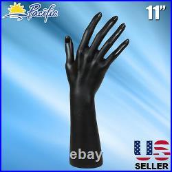 Female Black Mannequin Hand Display Jewelry Bracelet ring glove Stand holder