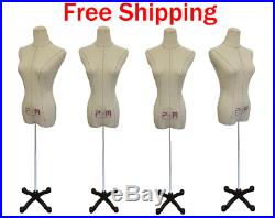 Female Dress Form Mannequins for Bridal / Clothing Display (Set of 2) with Stand