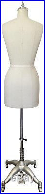 Female Dress Form With Flat Hip & Collapsible Shoulder Adjustable Height Size 4