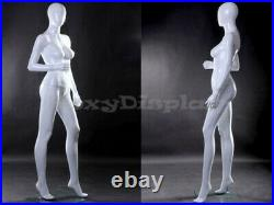 Female Fiberglass Glossy White Mannequin Egg Head #MZ-LISA7EG