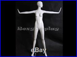 Female Fiberglass Glossy White Mannequin Eye Catching Abstract Style #MD-XD12W