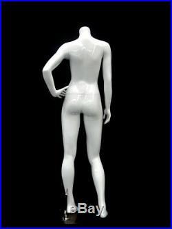 Female Fiberglass Headless Petite mannequin Body Dress Form #MD-GPX03BW1