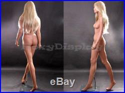 Female Fiberglass Mannequin Beautiful Face with elegant pose Style #MZ-LISA11