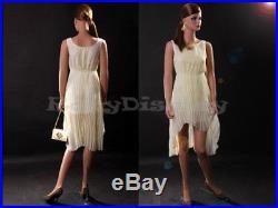 Female Fiberglass Mannequin Beautiful Face with elegant pose Style #MZ-LISA3
