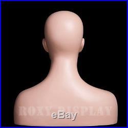Female Fiberglass Mannequin Head Display Dress Form #MZ-H1