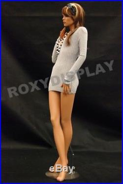 Female Fiberglass Mannequin Pretty Face Elegant Pose Dress From Display #MD-FR8