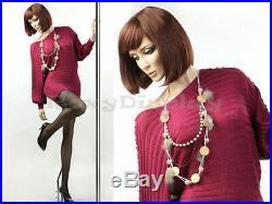 Female Fiberglass Mannequin With Pretty Face Elegant Pose #MZ-ZARA3
