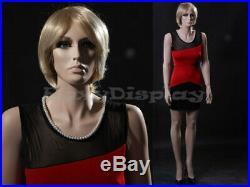 Female Fiberglass Mannequin With Pretty Face Elegant Pose #MZ-ZARA4