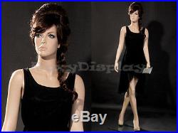 Female Fiberglass Mannequin With Pretty Face Elegant Pose #MZ-ZARA6