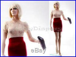 Female Fiberglass Mannequin With Pretty Face Elegant Pose #MZ-ZARA7