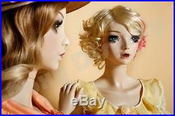 Female Fiberglass Mannequin with Two interchangeable Heads Display #MZ-ABF4