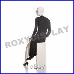 Female Fiberglass Matte Cream Mannequin Eye Catching Abstract Style #MZ-JULIA3