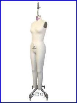 Female Full Body Dress Form Sewing Mannequin with Hip and Collapsible Shoulders