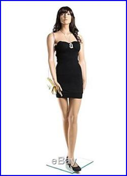 Female Full Body Fiberglass Realistic Mannequin withWig Flesh Tone