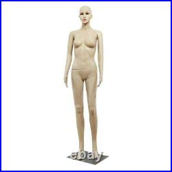Female Full Body Realistic Mannequin Display Head Turns Dress Form /w Base