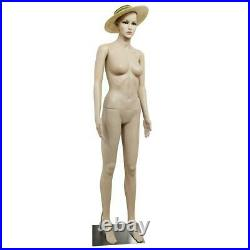 Female Full Body Realistic Mannequin Display Head Turns Dress Form withBase