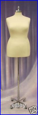 Female Hard foam Size 18-20 Mannequin Dress Form #F18/20W+BS-WCDX