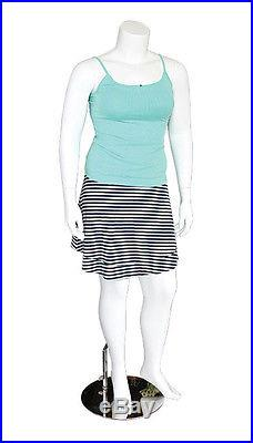 Female Headless Plus Size Mannequin Magnetic Arm Leg Attaching Display White NEW