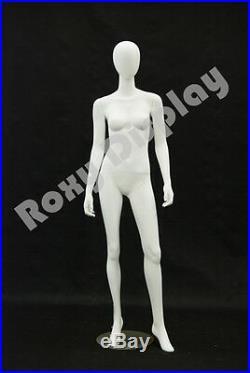 Female Highend Fiberglass Egg Head Mannequin Display Dress Form #MD-A3W2-S