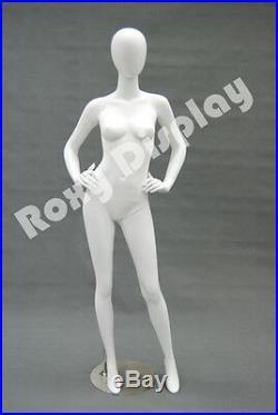 Female Highend Fiberglass Egg Head Mannequin Display Dress Form #MD-A4W2-S