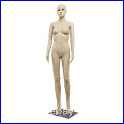 Female Mannequin Clothing Realistic Display Head Turns Dress Form with Base